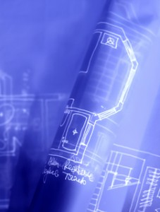 Trimen Electric - photo of a blueprint for electrical design work
